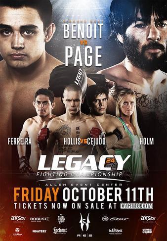 Legacy_FC_24_Benoit_vs._Page_Poster