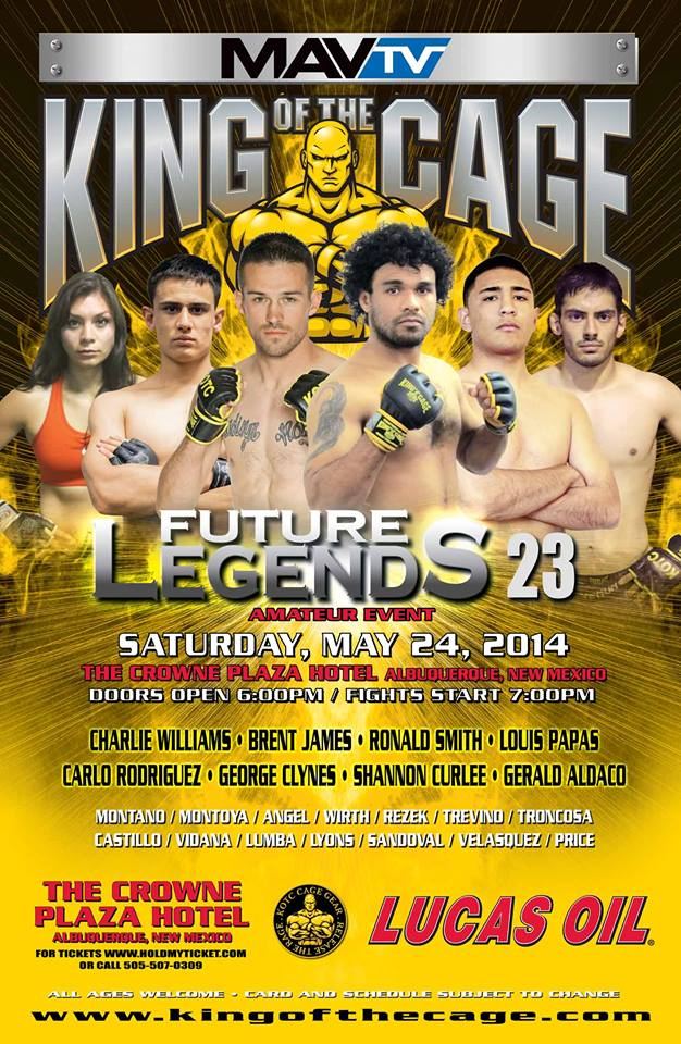 King of the Cage- Future Legends 18, Weigh-in Alert & Line