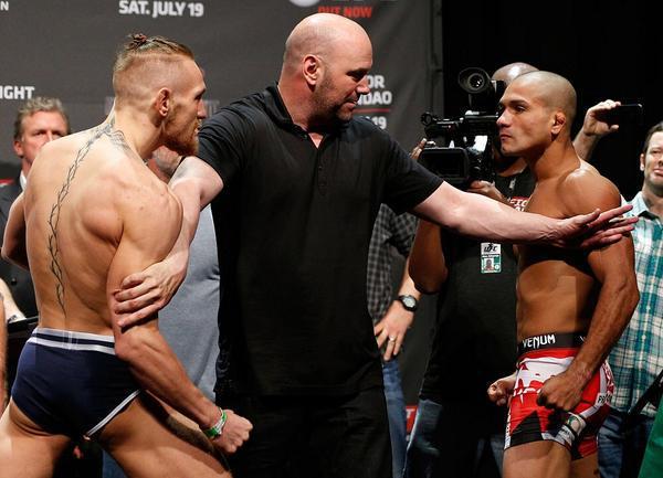 McGregor vs. Brandao Staredown