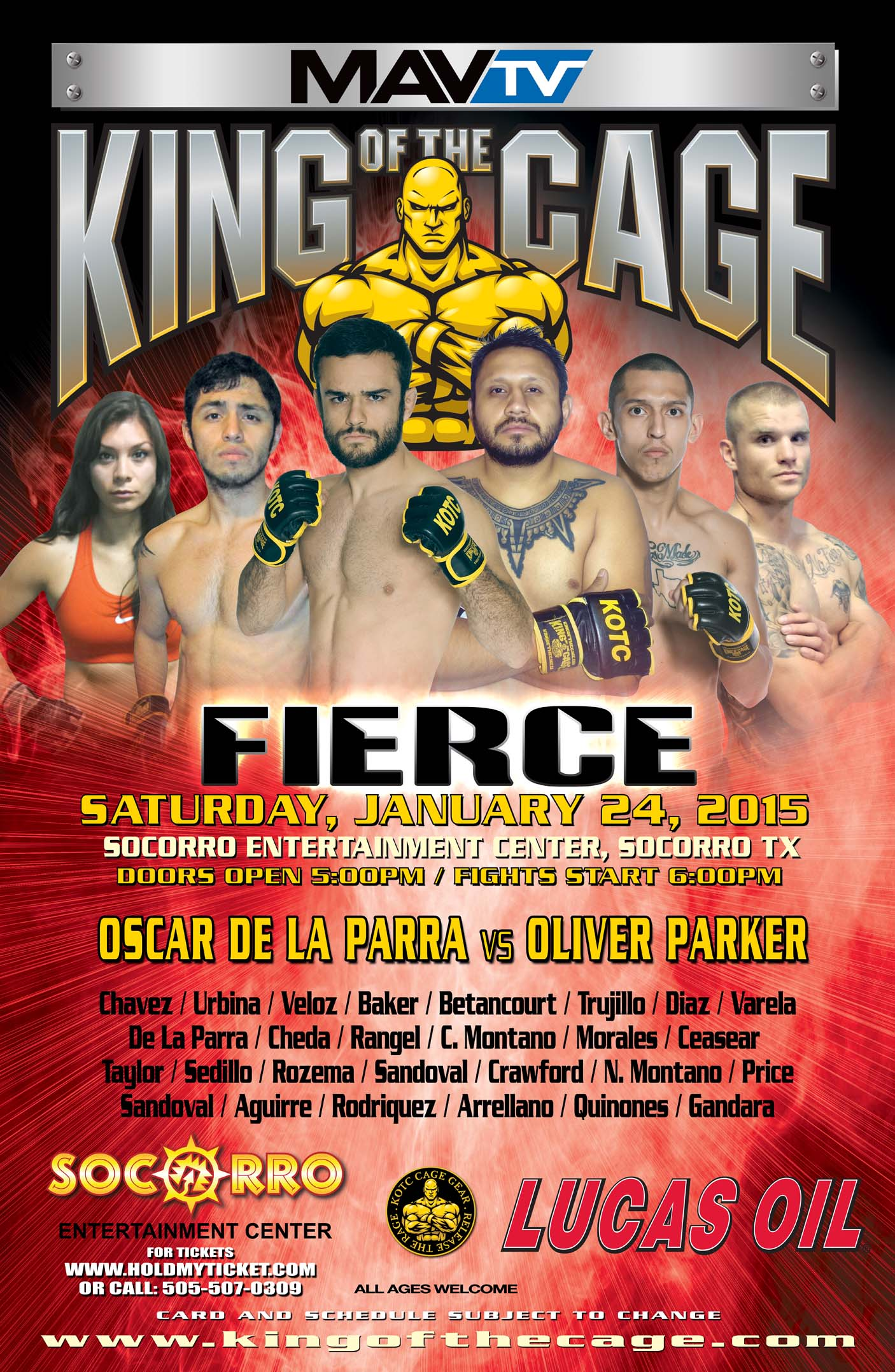 King of the Cage: Honor - results and full event video