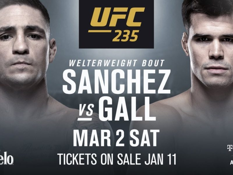 Sanchez vs. Gall on tap for UFC 235