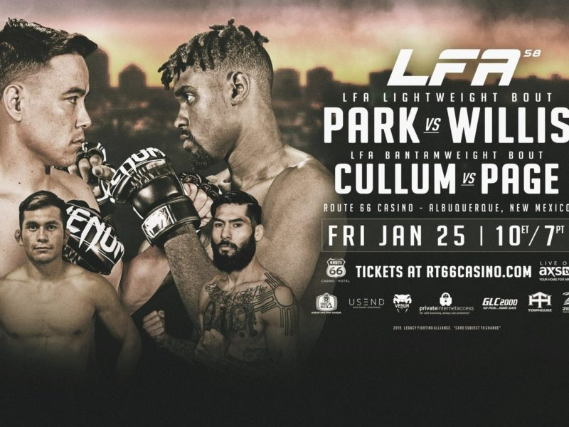 "LFA Coming to Route 66 Casino with ""Park vs. Willis"""