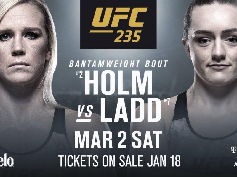 Holm vs. Ladd Set for UFC 235