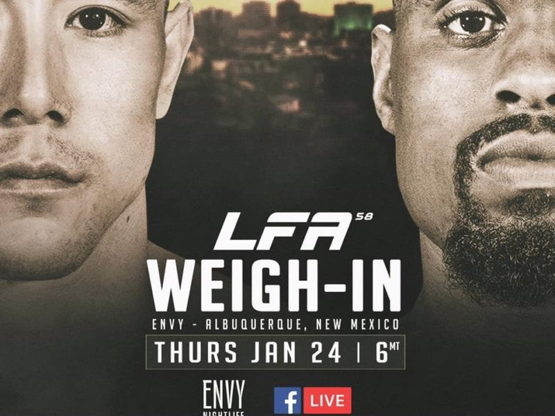 LFA 58 weigh-in coverage