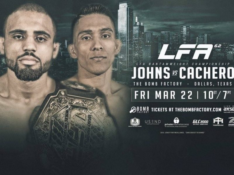 Johns-Cachero Title Fight Headlines LFA 62