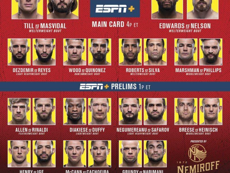 UFC Fight Night Till vs. Masvidal results, Masvidal crushes Till