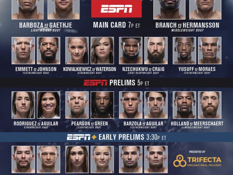 UFC on ESPN 2 quick results