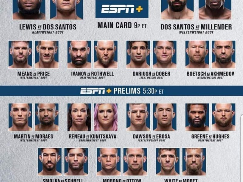 UFC Fight Night Lewis vs. Dos Santos Results, JDS Wins Third Straight