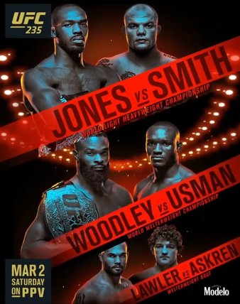 UFC 235 Weigh-in Results, title fights are on