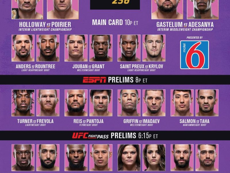 UFC 236 Quick Results