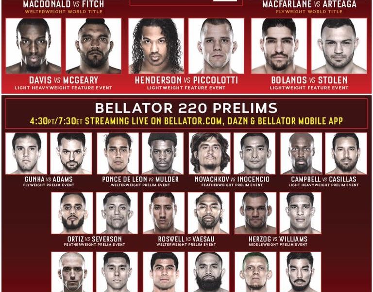 Bellator 220 Quick Results