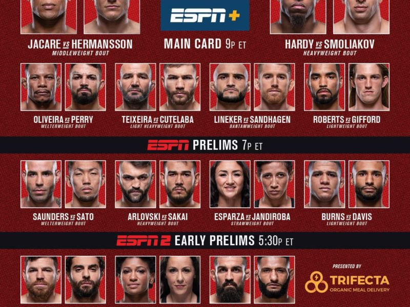 UFC Fight Night 150 Quick Results