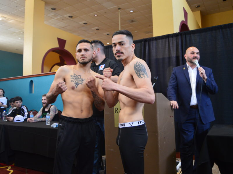 Duke City Lions Weigh-in Coverage, all fighters on weight