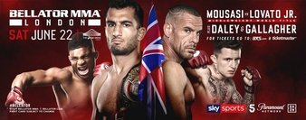 Quartet of Fights Official for Bellator's June Event in London