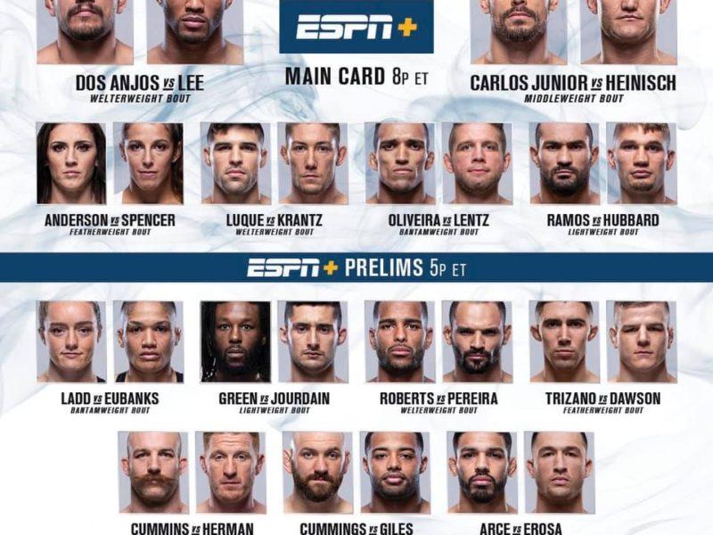 UFC Fight Night RDA vs. Lee Results