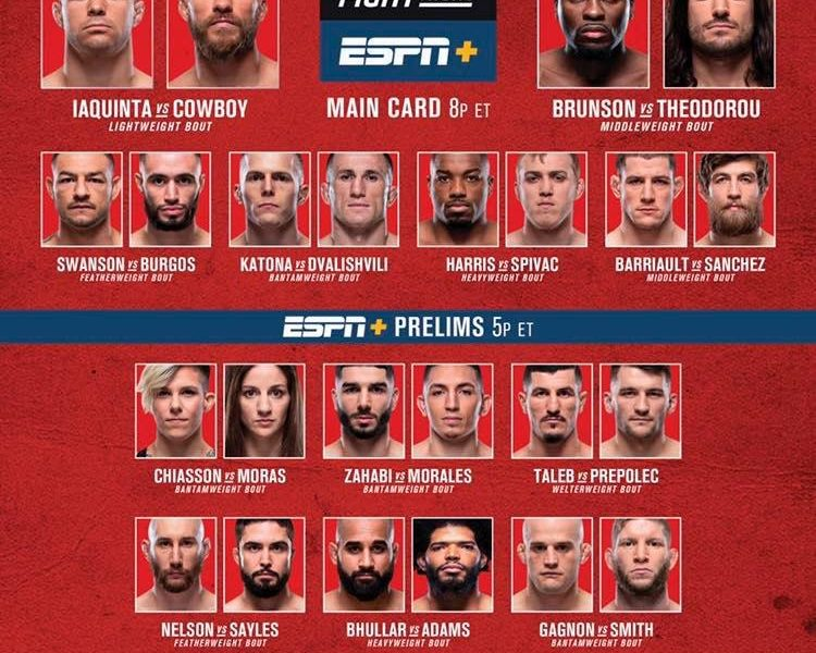 UFC Fight Night 151 Quick Results