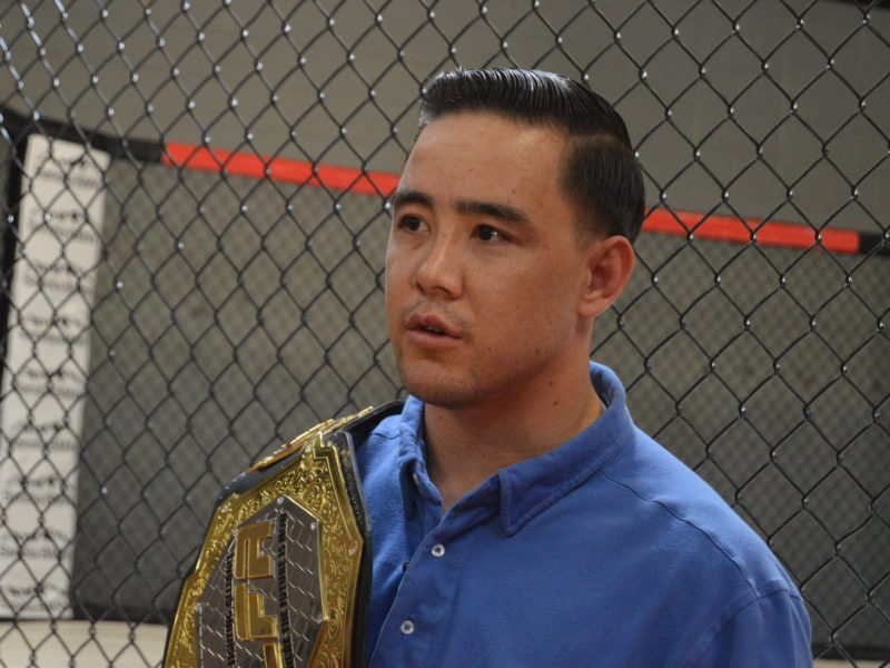 Media Scrum with LFA Lightweight Champion Harvey Park