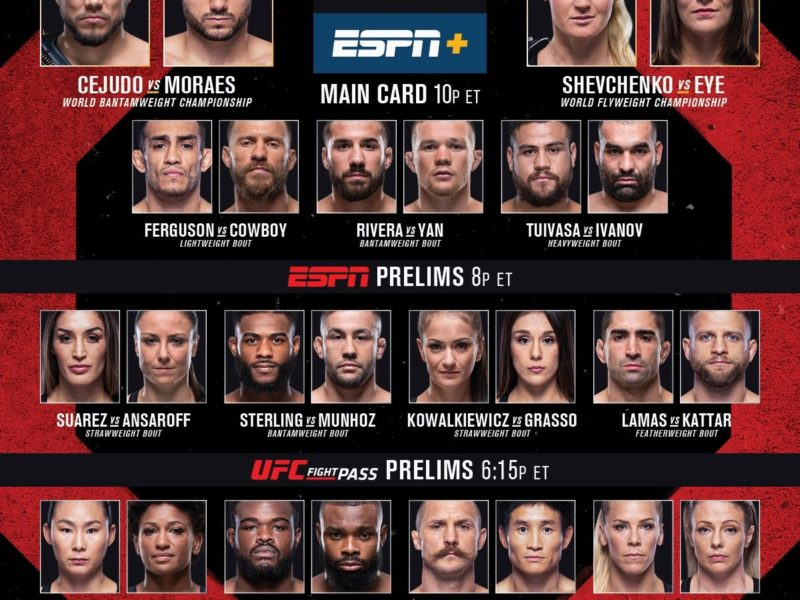 UFC 238 Quick Results