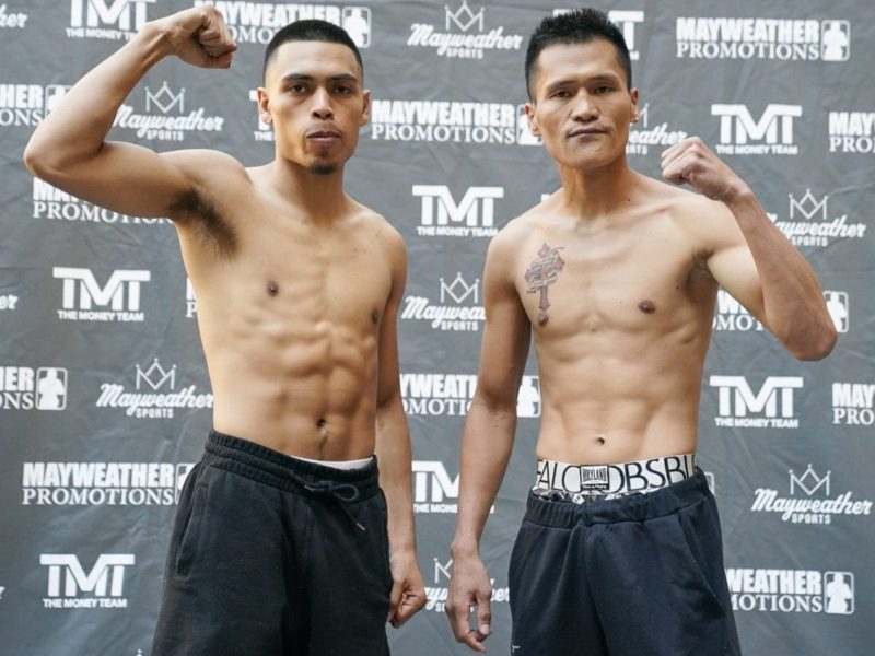 Mayweather Promotions  Leo vs. Yap Weigh-in Results