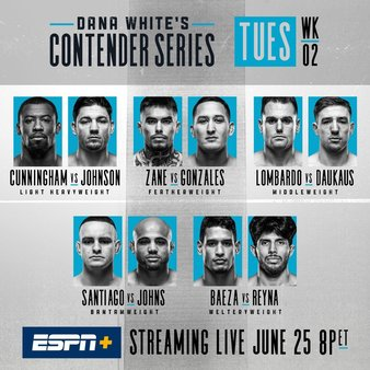 Contender Series 2019, week 2 results