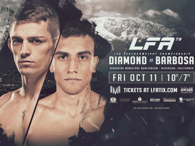 Diamond & Barbosa to battle for Featherweight title in LFA 79 Headliner