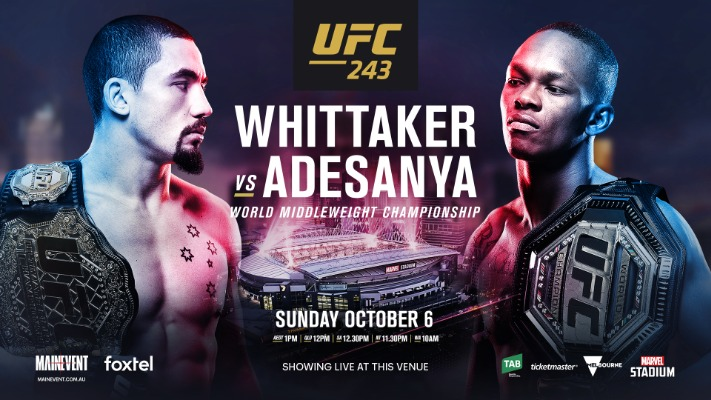 UFC 243 Whittaker vs. Adesanya Quick Results