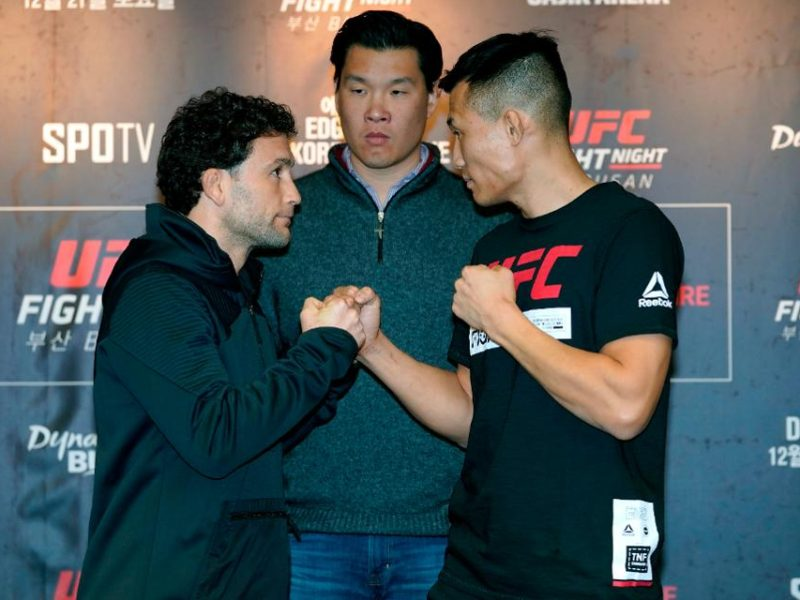 Results for the UFC Fight Night 165 Weigh-ins