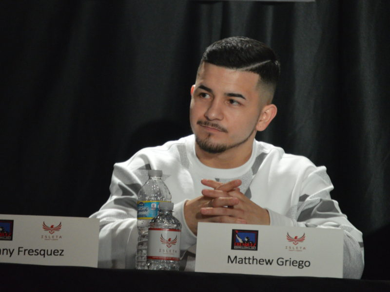 Matthew Griego-  its like the door is locked and this fight is the key