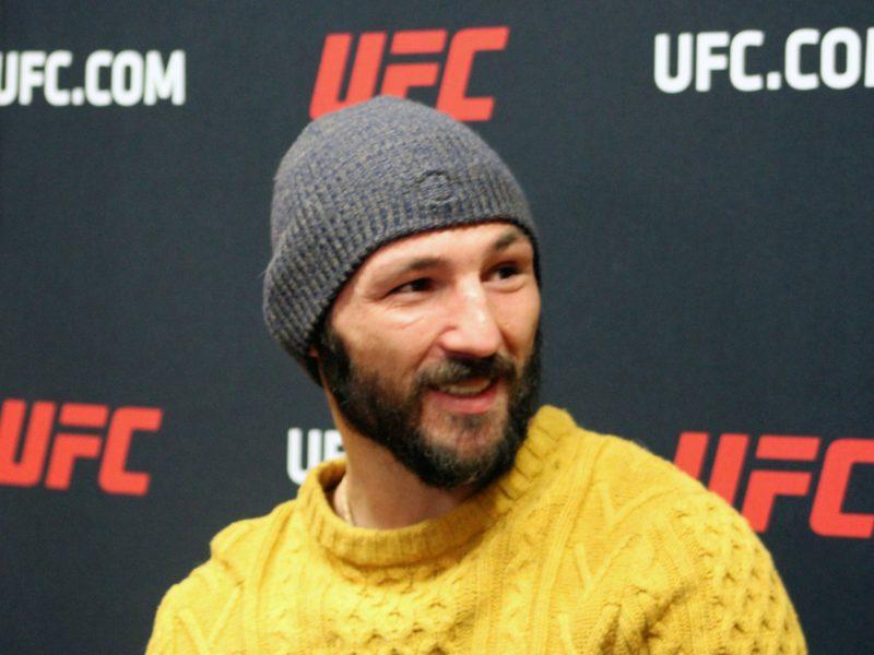 Landon Vannata Pre UFC Rio Rancho media scrum