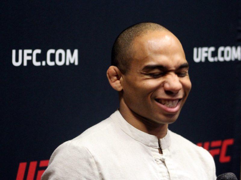 John Dodson pre UFC Rio Rancho media scrum