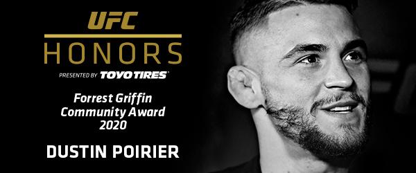 Dustin Poirier 1st Forrest Griffin Community Award Winner