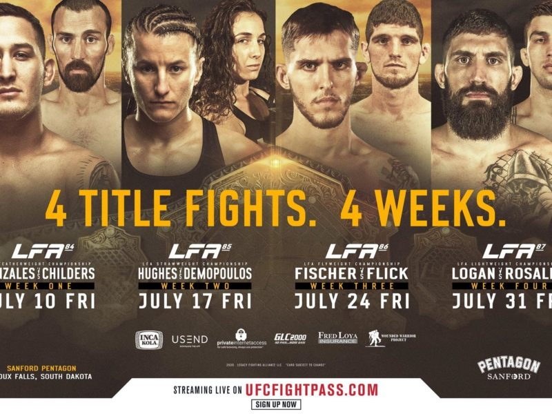 LFA Returns in July with Four Title Fights in Four Weeks