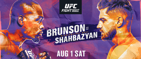 "UFC Fight Night ""Brunson vs. Shahbazyan"" Easy Read Results"