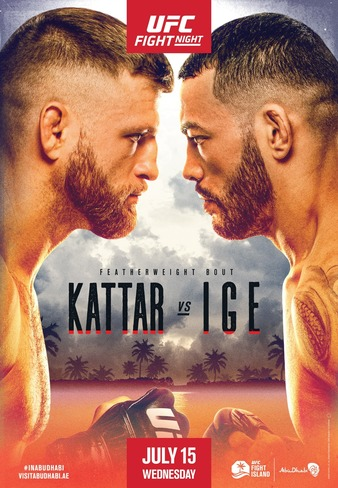 UFC Fight Night Kattar vs Ige, Easy read Results