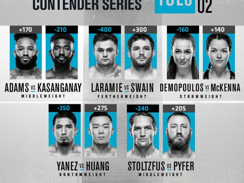 2020 Contender Series, Episode 2 results