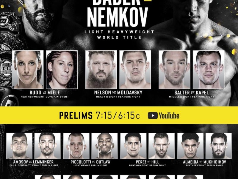 Bellator 244 simple results, Nemkov dethrones Bader