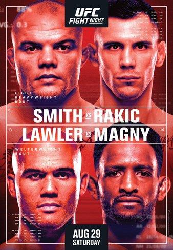 "UFC Fight Night ""Smith vs. Rakic"" Easy Read Results"