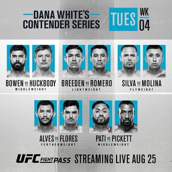2020 Contender Series, Episode 4 results