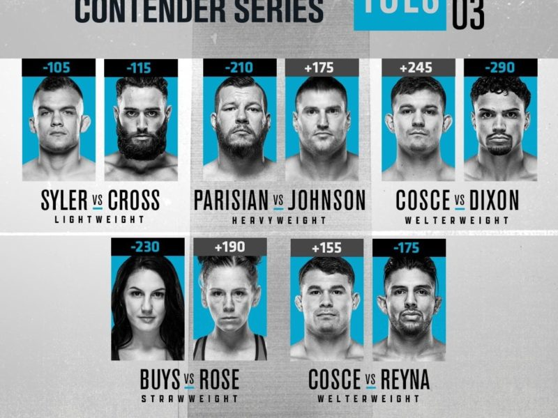 2020 Contender Series, Episode 3 results