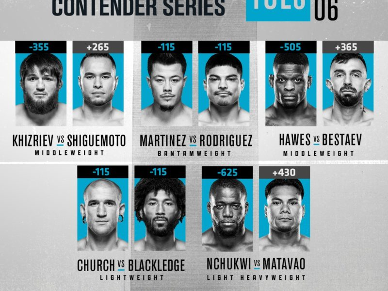 2020 Contender Series, Episode 6 Easy Read Results