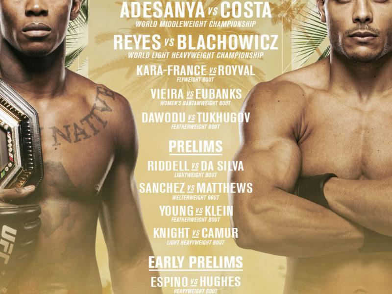 UFC 253 Easy Read Results