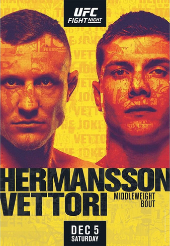 "UFC Fight Night ""Hermansson vs. Vettori"" Easy Read Results"