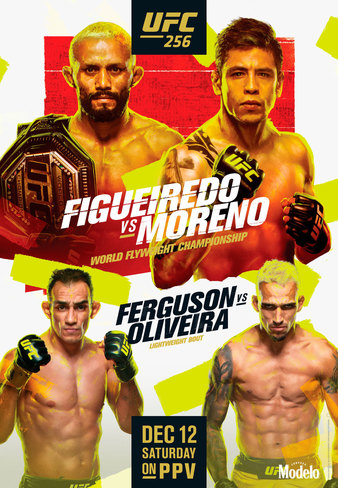 UFC 256 Easy Read Results