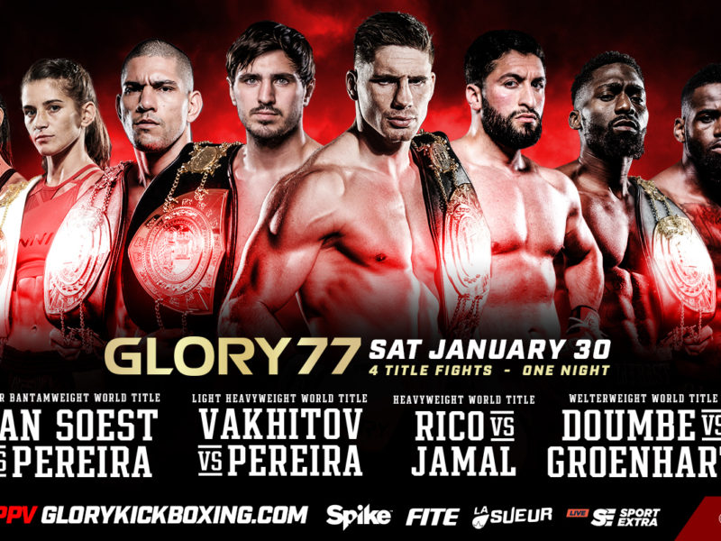 Championship Quadruple-header set for Glory 77