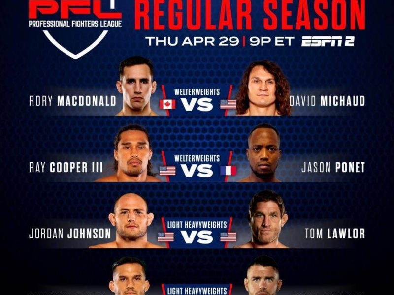 MacDonald vs. Michaud headlines event 2 of the 2021 PFL