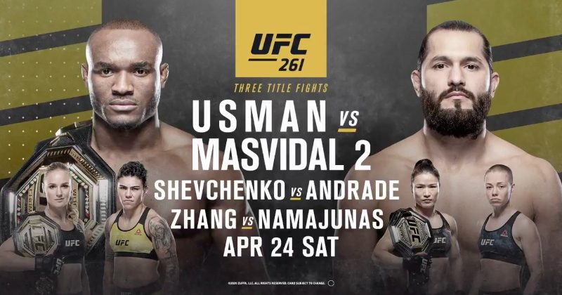 UFC 261 heads to Jacksonville with Usman-Masvidal 2