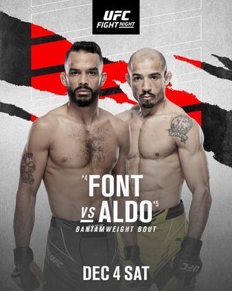 Former Champion vs. Rising Star Headlines UFC Fight Night Dec. 4th